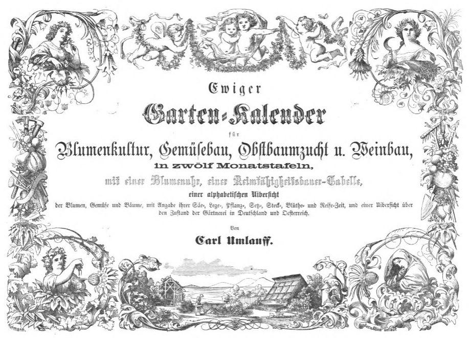 Gartenkalender von 1862