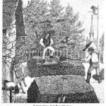 Das Bild zeigt zwei Menschen, die einen Komposthaufen aus Abfällen herstellen.