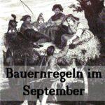 alte Bauernregeln für den Monat September
