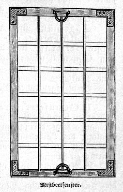 Das Bild zeigt ein Fenster für ein Selbstversorger-Mistbeet.